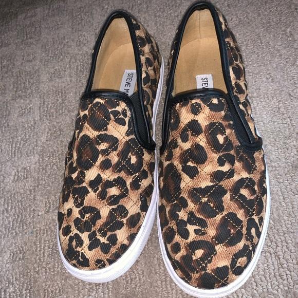 Steve Madden Leopard Slip On Sneakers